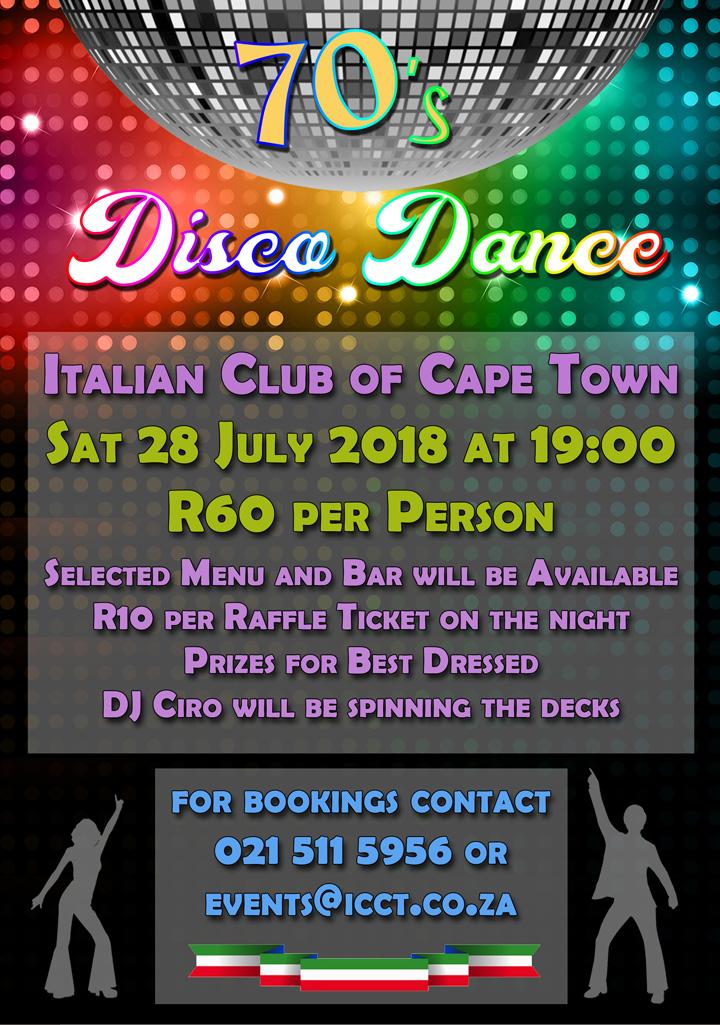 70s Disco Dance - Italian Club of Cape Town
