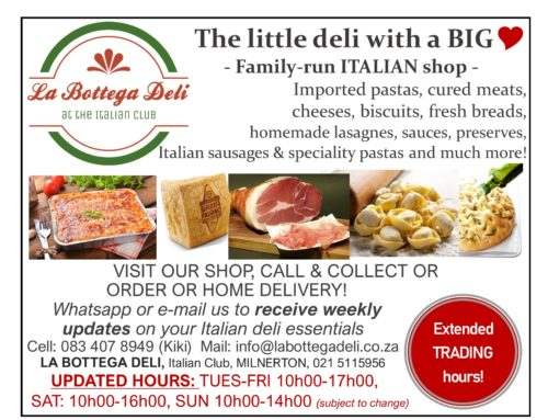 La Bottega Deli Updated Trading Hours